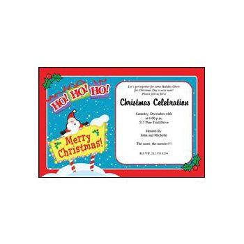 Ho Ho Ho Christmas Personalized Invitaions