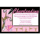 Cheerleading Personalized Invitations