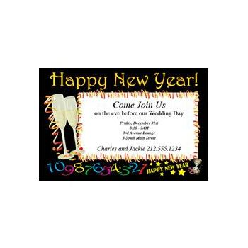 Countdown New Year Invitations
