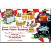 Barbecue Time Personalized Invitations