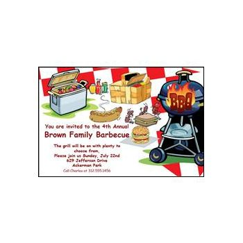 Personalized BBQ Invitations