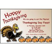 Turkey Day Personalized Invitations