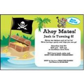 Pirates On The Beach Personalized Invitations