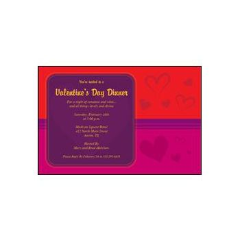 Red Hearts Invitation