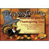 thanksgiving Turkey Personalized Invitations