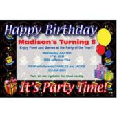 Its A Birthday Party Personalized Invitations