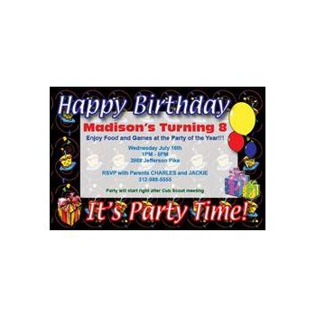 Custom Birthday Party Invitations
