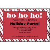 Ho Ho Ho Holiday Personalized Invitations