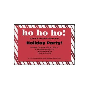 Santa Holiday Invitations