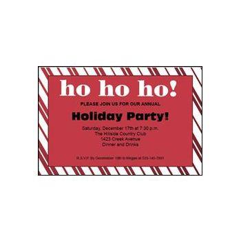 Santa Holiday Invitations