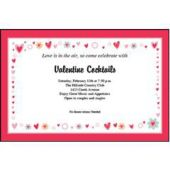 Be My Valentine Personalized Invitations