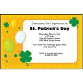 Sunny Shamrocks Personalized Invitations