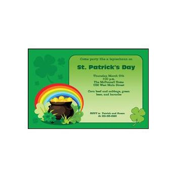 Shamrocks Personalized Invitations