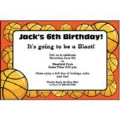 Basketball Hoops Personalized Invitations