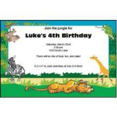 At The Zoo Personalized Invitations