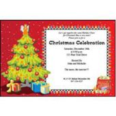 Christmas Tree Personalized Invitations