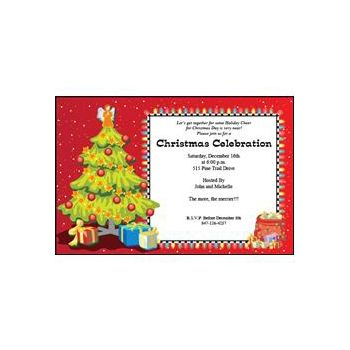 Christmas Tree Invitations