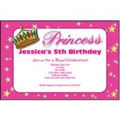 Princess Crown Personalized Invitations
