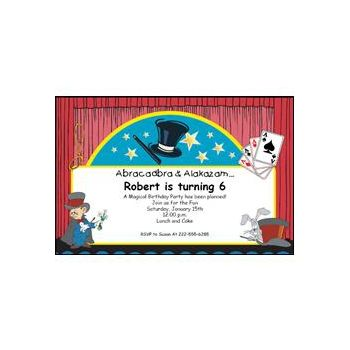 Abracadabra Personalized Invitations