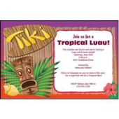 Tiki Party Personalized Invitations