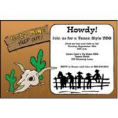 Old West Personalized Invitations