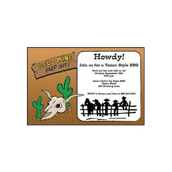Old West Party Invitations