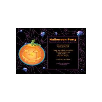 Halloween Pumpkin Personalized Invitations