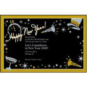 Black Tie New Years Personalized Invitations