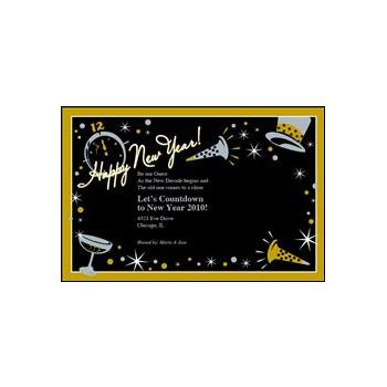 Black Tie New Years Invitations