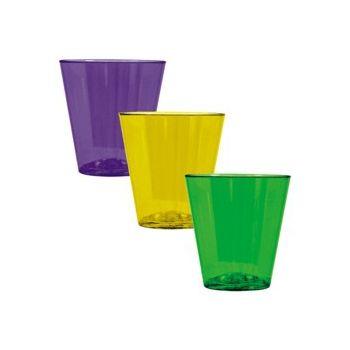 MARDI GRAS  SHOT GLASSES