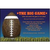 The Big Game Personalized Invitations