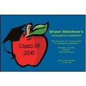 Graduation Apple Personalized Invitations