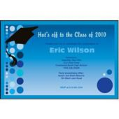 Graduation Blue Custom Invitations