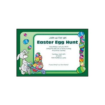 Easter Egg Celebration Personalized Invitations