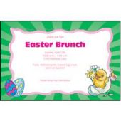 Easter Basket Personalized Invitations Increments Of 2 Invitations)