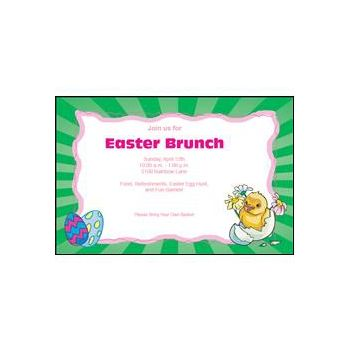 Easter Basket Personalized Invitations
