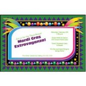 Mardi Gras Mask Personalized Invitations