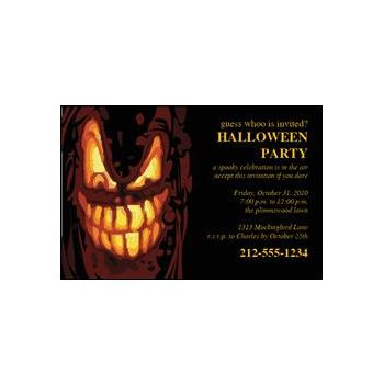 Halloween Fright Custom Invitations