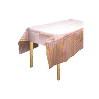 PASTEL GINGHAM  TABLE COVER