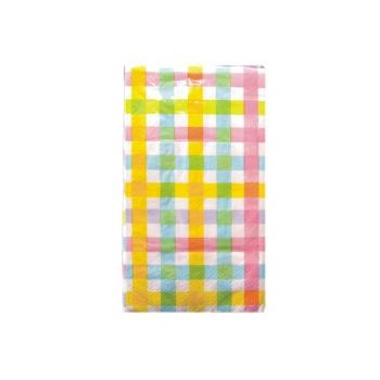 PASTEL GINGHAM  GUEST TOWELS