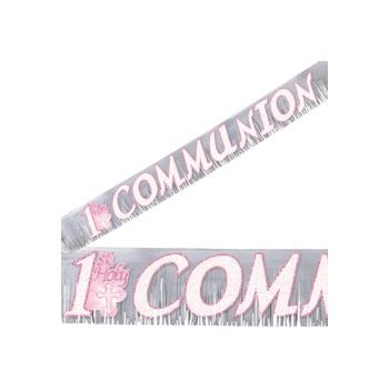 1ST COMMUNION PINK BANNER