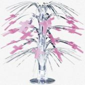 Pink Cross Centerpiece-8 1/2""