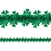 Shamrock 20' Tinsel Garland