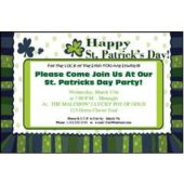 St Patricks Day Personalized Invitations