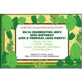 Island Palms Personalized Invitations