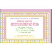 Pastel Gingham Personalized Invitations