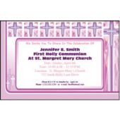 Joyous Cross Pink Personalized Invitations