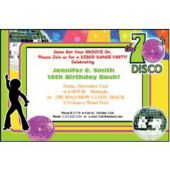 Disco 70's  Personalized Invitations