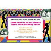 Disco Dancers Personalized Invitations