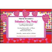Hip Hearts Personalized Invitations